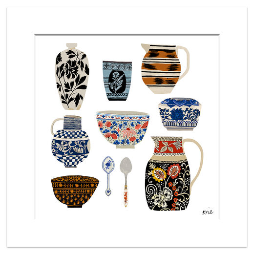 Ceramics Collection print by Brie Harrison