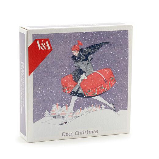 V&A Christmas Cards - Art Deco (pack of 20 - 4 designs)