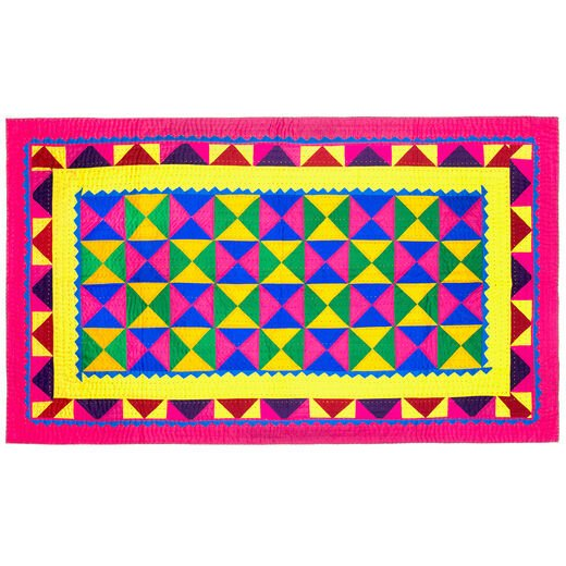 Small multicoloured patchwork quilt