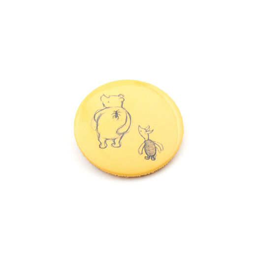 Pooh and Piglet button badge
