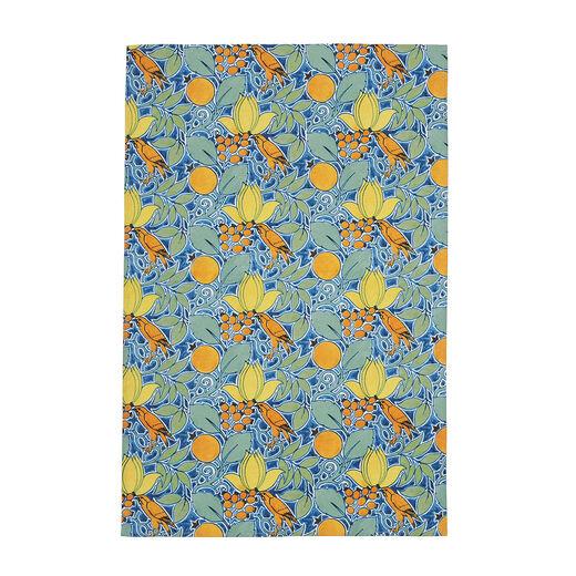 V&A 'Bird and Rosehip' tea towel