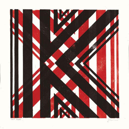 K by James Brown (Alphabet Lino Print)