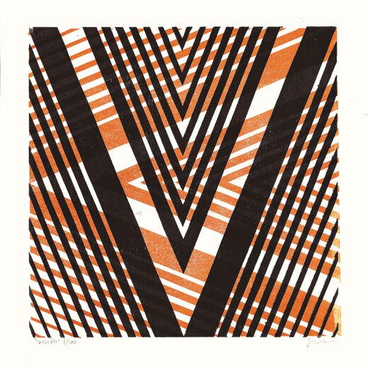V by James Brown (Alphabet Lino Print)