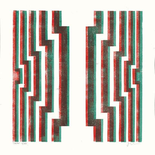 I by James Brown (Alphabet Lino Print)