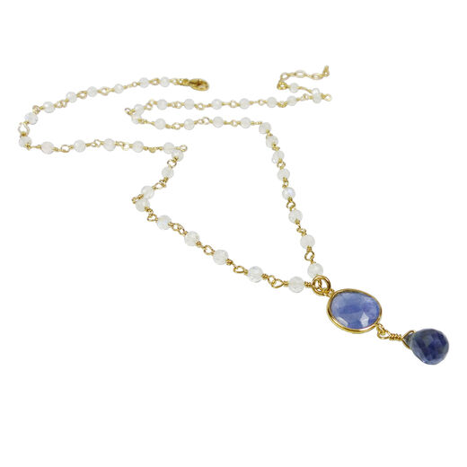 Tanzanite necklace by Mounir