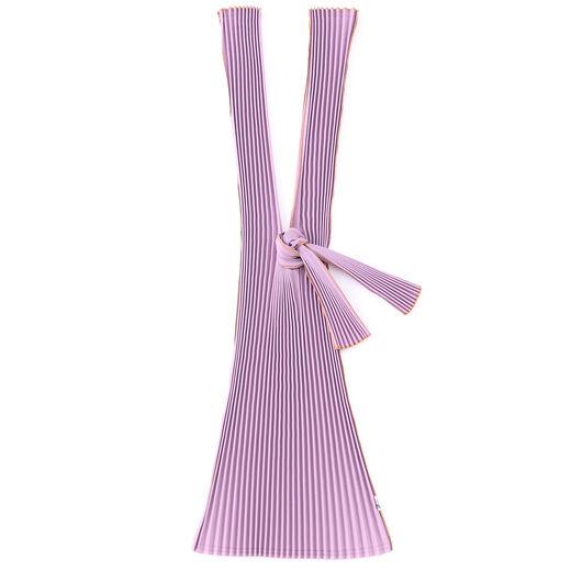 Purple pleats bag