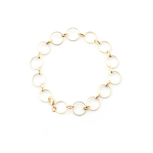 Circle chain bracelet by Mirabelle