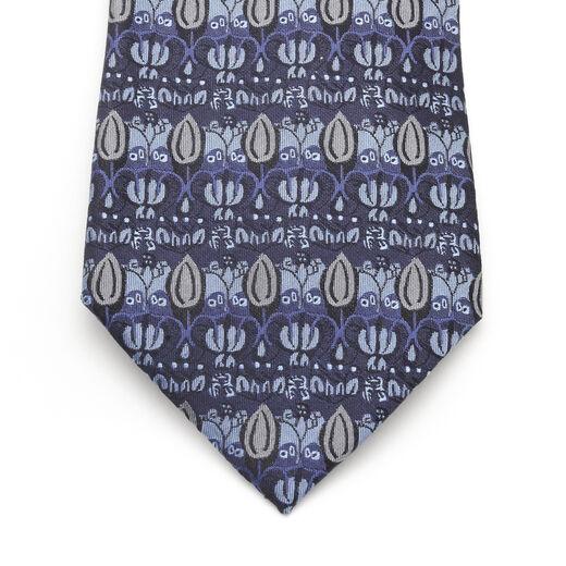 C.F.A. Voysey The Owl silk tie