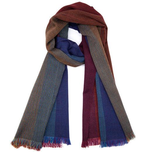 Multicoloured woven scarf