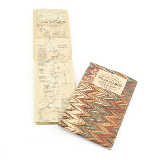 Oarsman's and Angler's map of the River Thames - cloth map print
