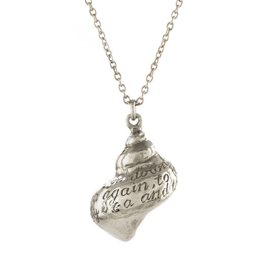 Engraved shell necklace by Alex Monroe