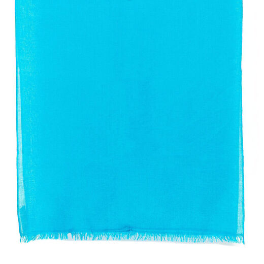 Cerulean blue merino scarf by Kashmir Loom