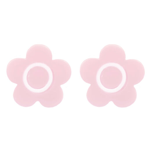 Mary Quant pink daisy stud earrings