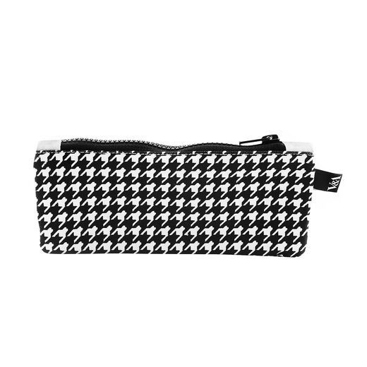 Houndstooth canvas pouch