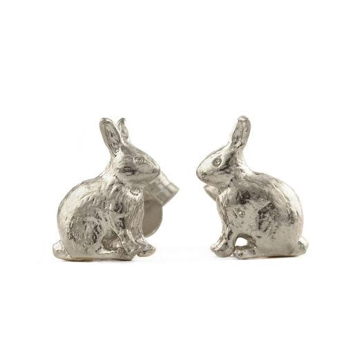 Bunny stud earrings by Alex Monroe