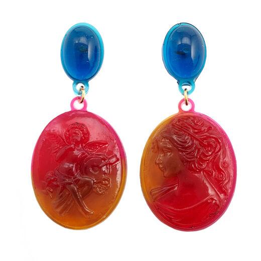 Resin stud jewel earrings by Corsi Design Factory