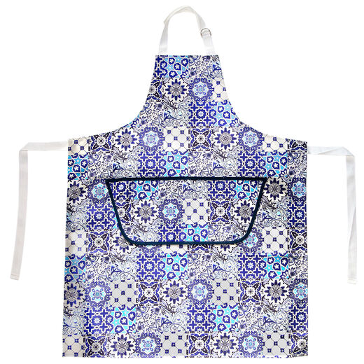 V&A blue tiles apron