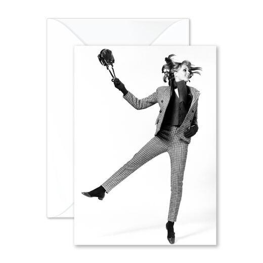 Jumping Woman greeting card