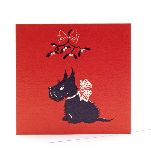 V&A Christmas cards – Scottie dog (pack of 8)