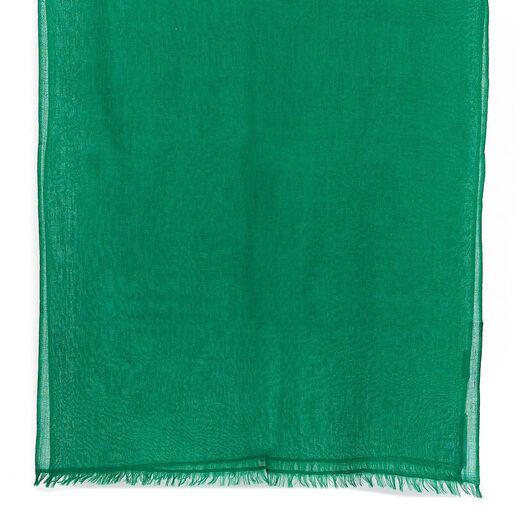 Forest green merino scarf by Kashmir Loom