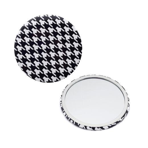 Houndstooth pocket mirror