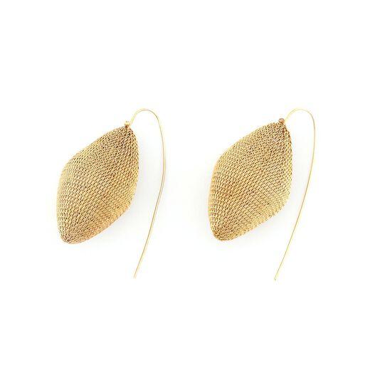 Large orb hook earrings by Milena Zu