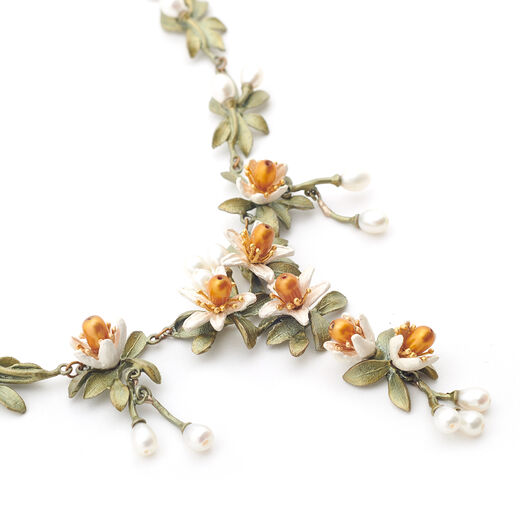Orange blossom necklace by Michael Michaud