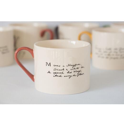 Edward Lear alphabet mug - M