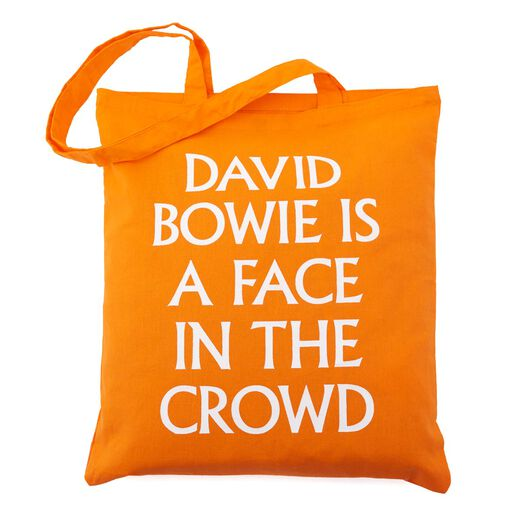 David Bowie is a Face in the Crowd exhibition bag