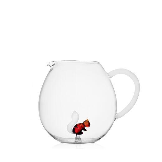 Squirrel glass jug by Ichendorf Milano