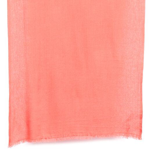 Shrimp orange scarf by Kashmir Loom