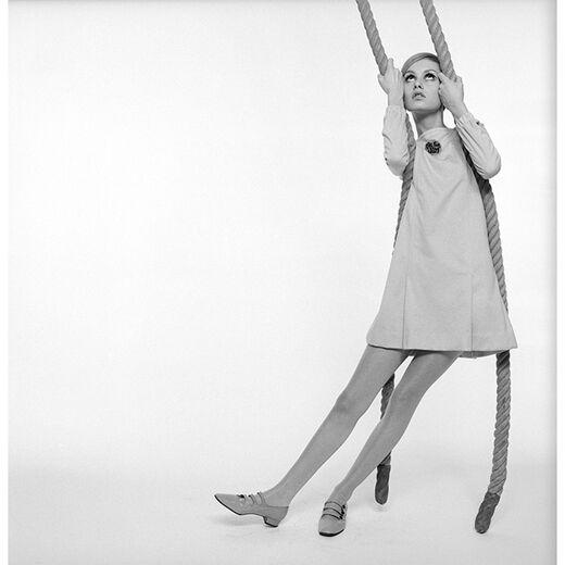 British fashion model Twiggy by Norman Parkinson - limited edition print