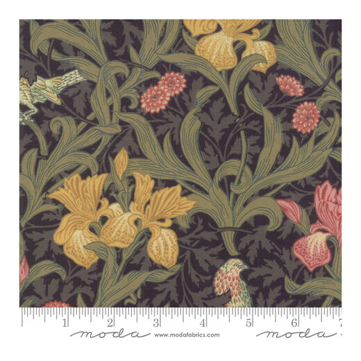 Iris black fat quarter by Moda Fabrics