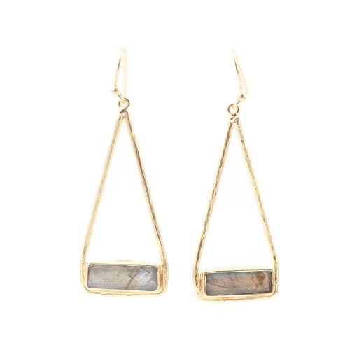 Labradorite earrings by Shan Shan