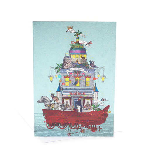 V&A Christmas cards - The Intrepid Christmas Travellers (pack of 8)