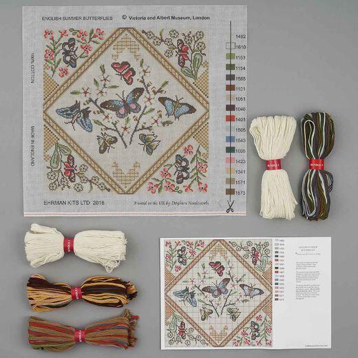 English Summer Butterflies needlepoint kit