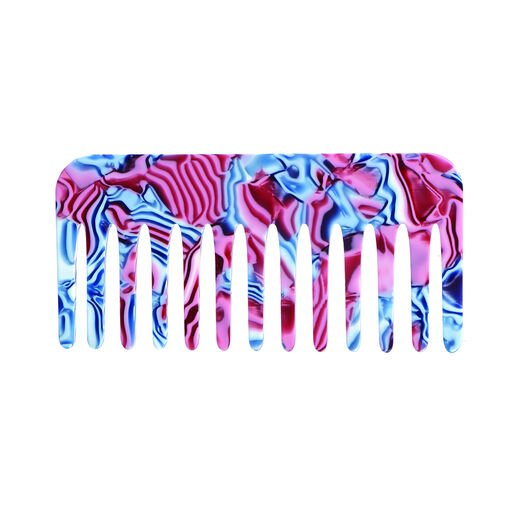 Blue and pink swirl comb