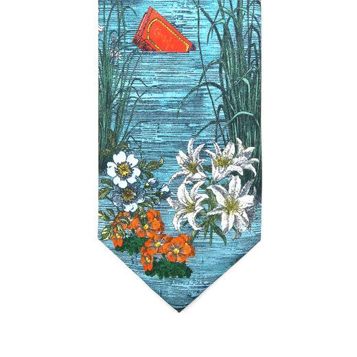 Golden Afternoon silk tie