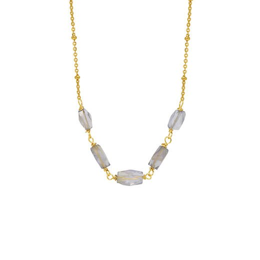 Five iolite necklace by Mirabelle