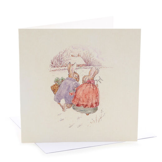 V&A Christmas cards - Beatrix Potter bunnies (pack of 8)