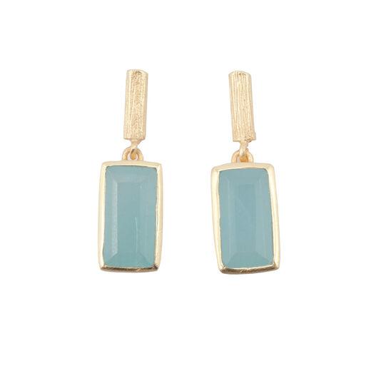 Stud jade earrings by Shan Shan