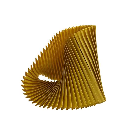 Gold pleat bracelet by Alexandra Tsoukala
