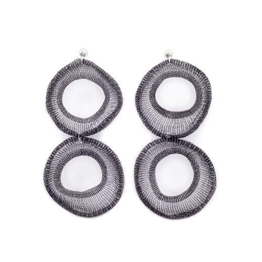 Mesh earrings by Materia Design
