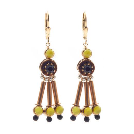 Lime jade drop hook earrings by Joli