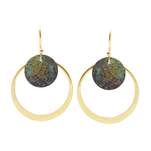 Open circle earrings by Sibilia