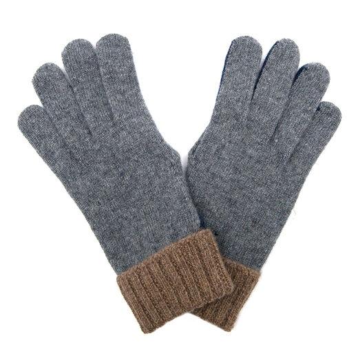 Men's grey brown navy gloves by Santacana