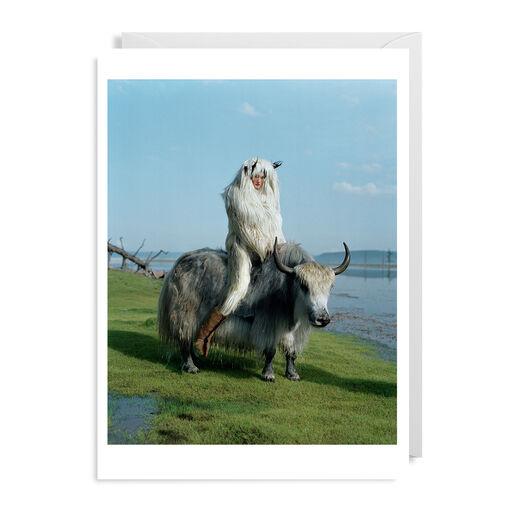 Kirsi Pyrhonen on Wild Yak by Tim Walker greeting card