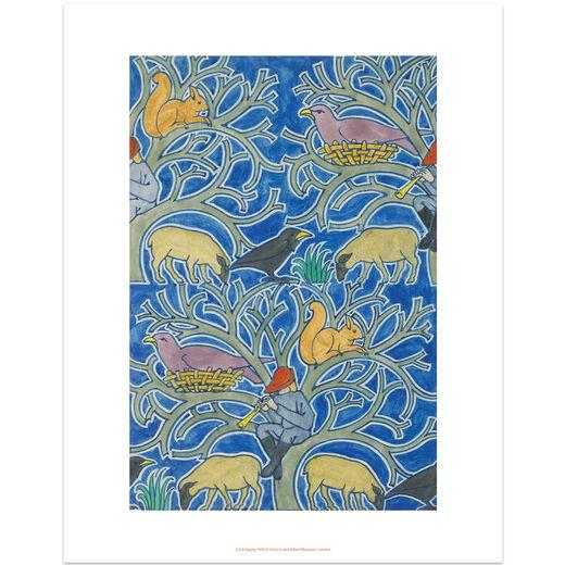 Textile design by C.F.A. Voysey