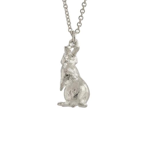 White Rabbit silver necklace by Alex Monroe