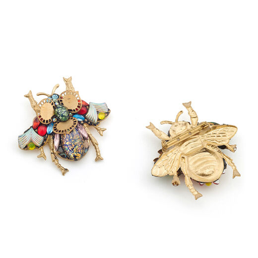 Large bee brooch by Annie Sherburne - assorted